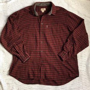 Woolrich Men's XL Red & Brown Plaid Flannel